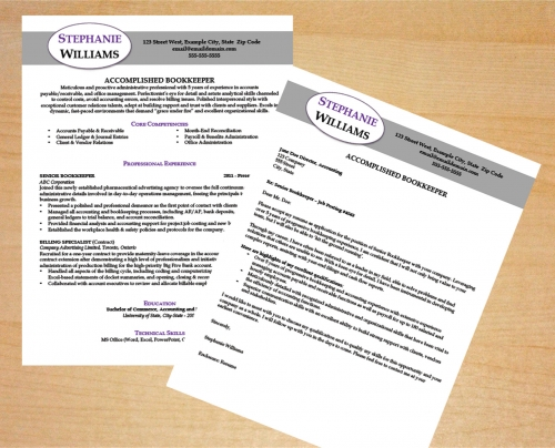 Bookkeeper Resume and Cover Letter Template